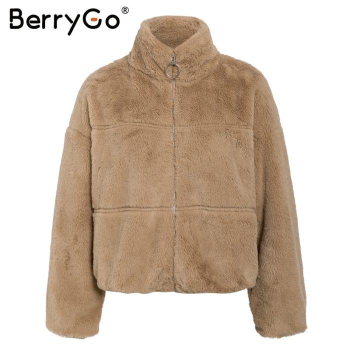 Fluffy Jacket Ladies Winter Coat
