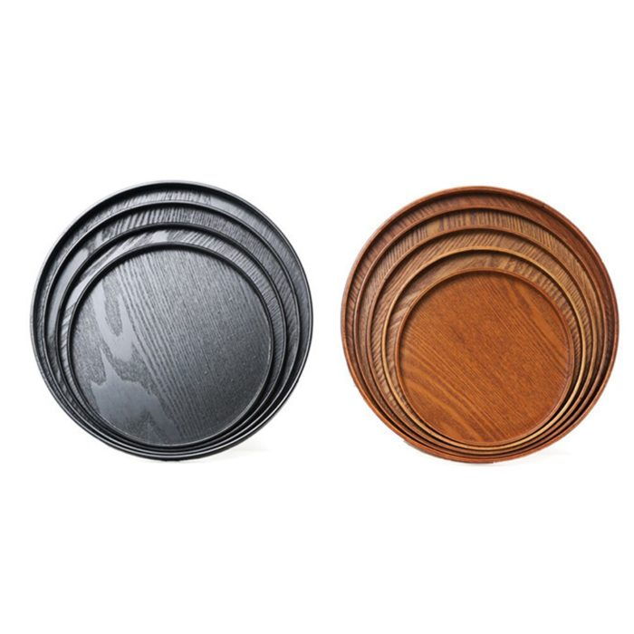 Wooden Serving Tray Round Food Server