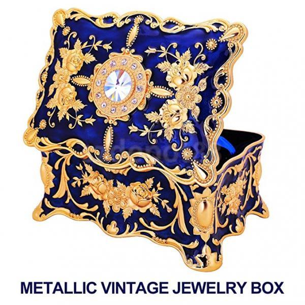Vintage Jewelry Box Storage Organizer