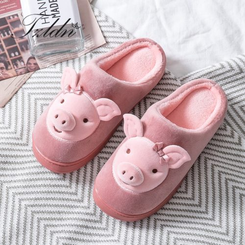 Soft Slippers Cute Pig Design