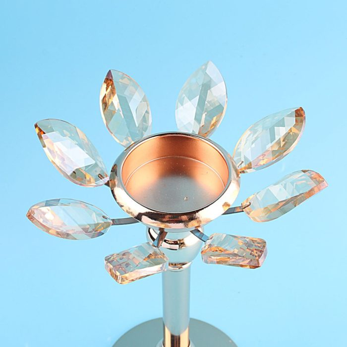Hurricane Candle Holder Crystal Centerpiece