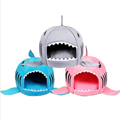 Cute Cat Bed Shark Cat Cushion