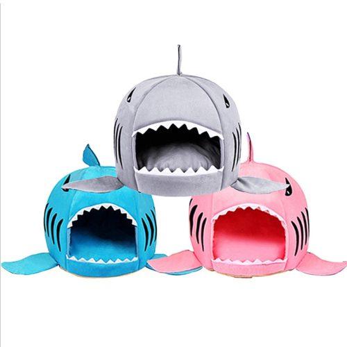 Cute Cat Bed Shark Cat Cushion