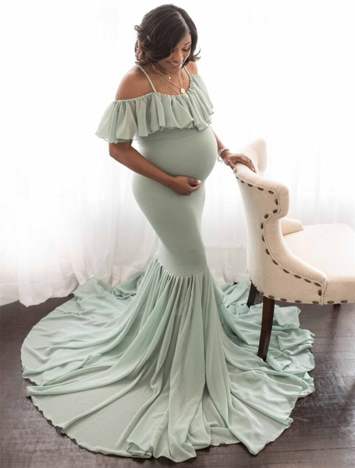 Maternity Shoot Dress Sexy Outfit