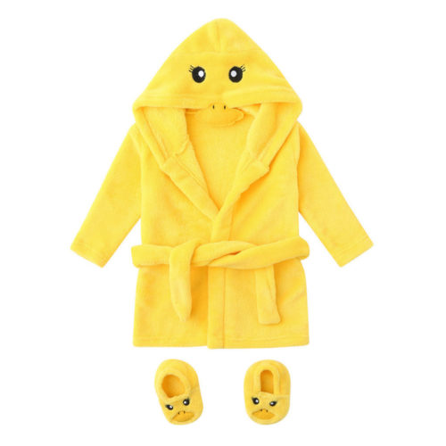 Kids Towel Robe With Footwear