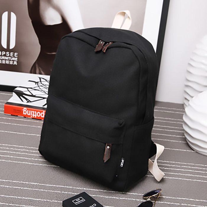 Fashionable Travel Backpack Canvas Knapsack