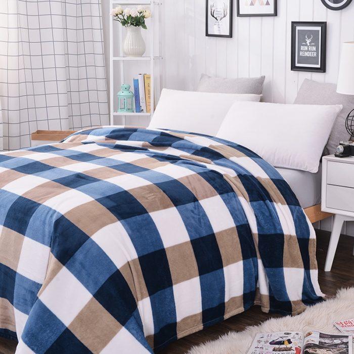 Plaid Blanket Polar Fleece Fabric