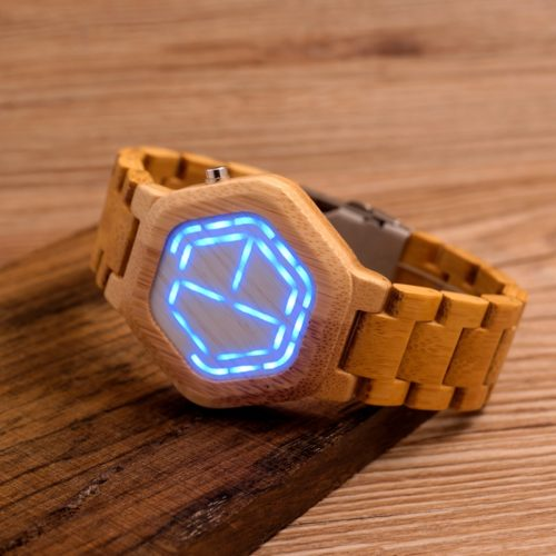 Digital Wooden Watch for Men