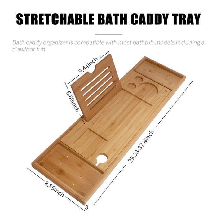 Bath Tub Caddy with Reading Rack