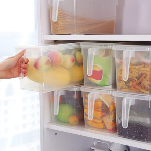 Fridge Storage Box with Handle