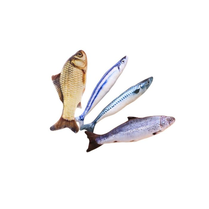 Cat Fish Toy 3D Fish Shape Toy