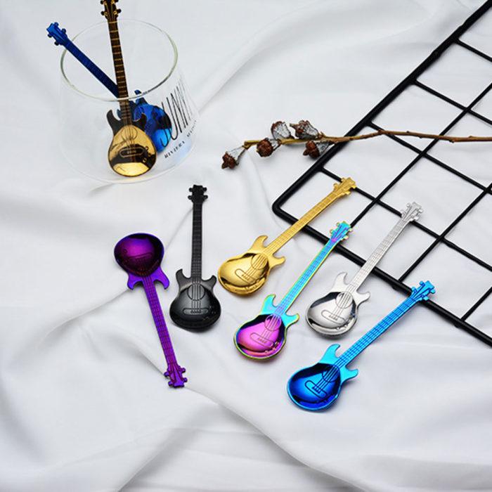 Guitar Spoons Stainless Steel Flatware