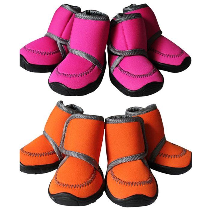 Dog Shoes For Winter Footwear 4pcs/Set