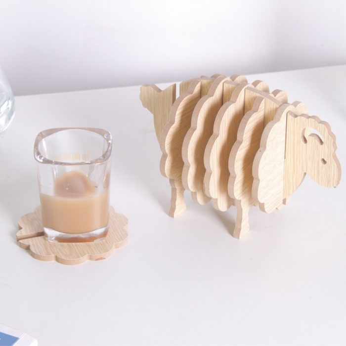 Cup Coaster 6PC Wooden Coasters