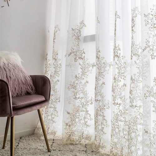Tulle Curtain Window Decoration