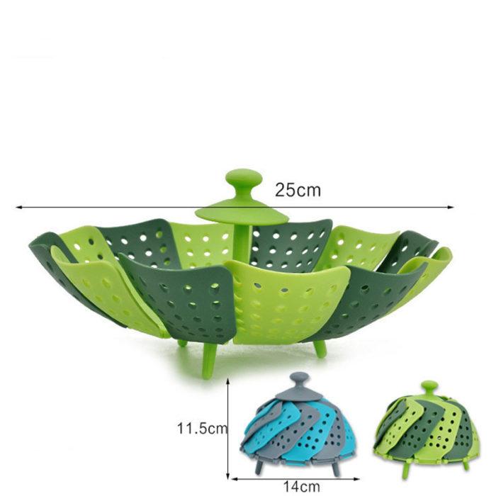 Steamer Basket Foldable Plastic Material