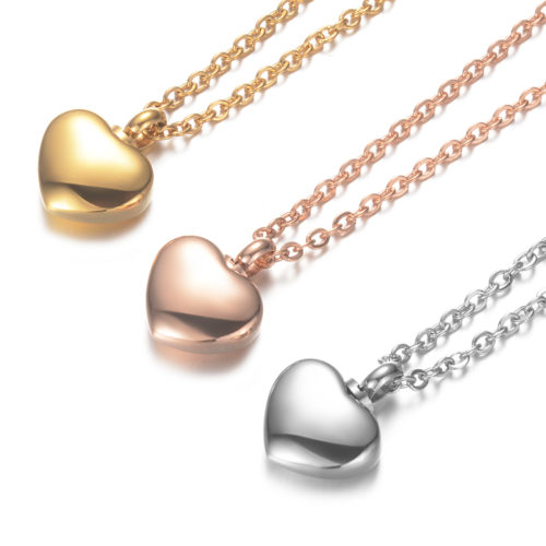 Heart Shaped Necklace Memorial Cremation Urn