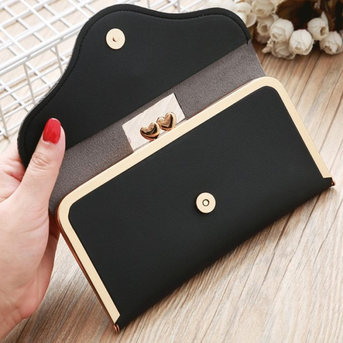 Clutch Wallet Ladies Leather Billfold