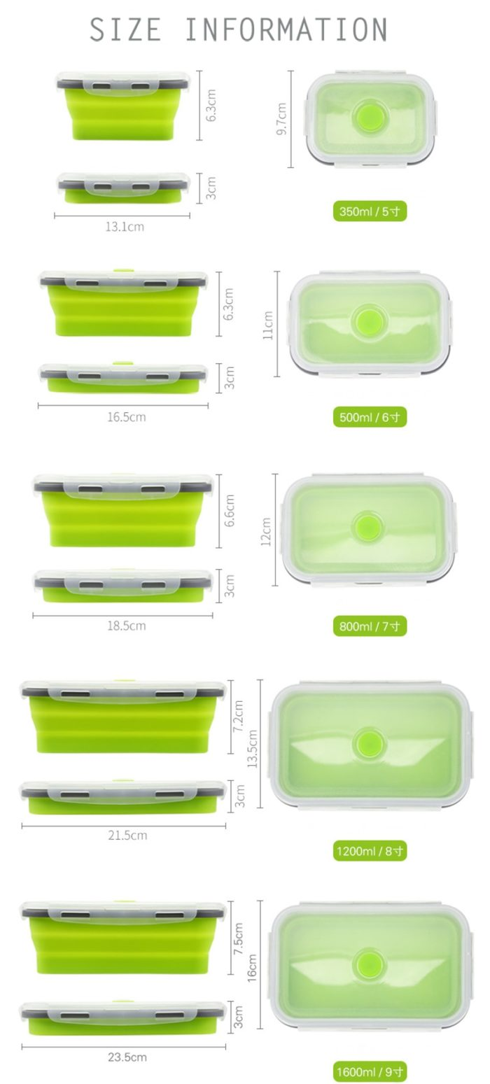 Collapsible Lunch Box Food Storage