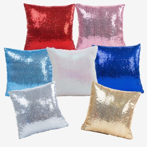 Sequin Cushion Mermaid Sofa Pillow