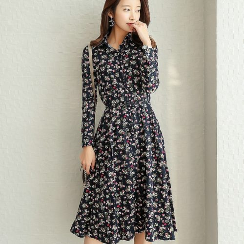 Floral Maxi Dress Ladies Casual Dress