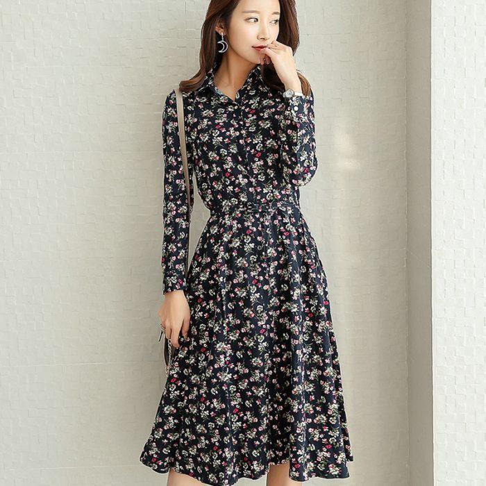 Floral Maxi Dress Ladies Casual Dress