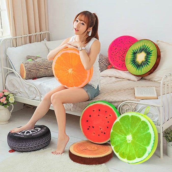 Chair Pillow Fruit Design Cushion