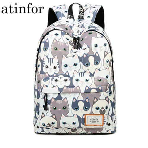 Cute Backpack For Girls Cat Design