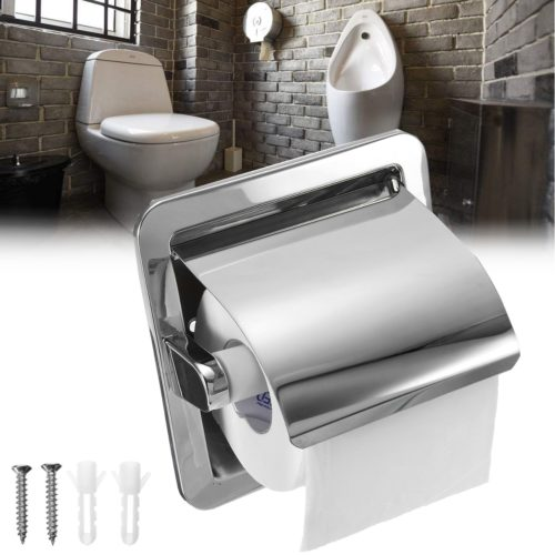 Recessed Toilet Paper Holder Stainless Steel