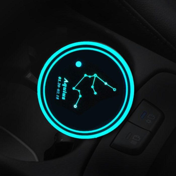 Car Cup Holder Coaster LED Pad
