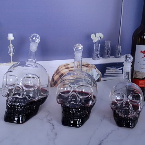 Skull Decanter Crystal Bottle