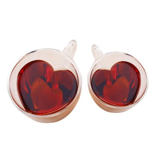 Heart Cup Double Wall Glass