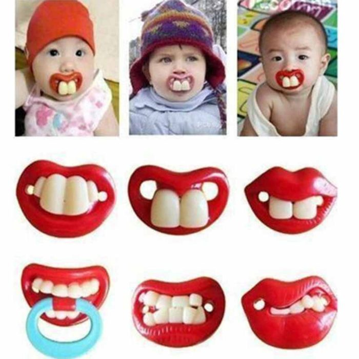 Funny Baby Pacifier Mouth Design