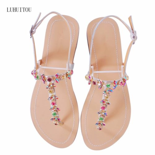 Ladies Summer Sandals with Rhinestones