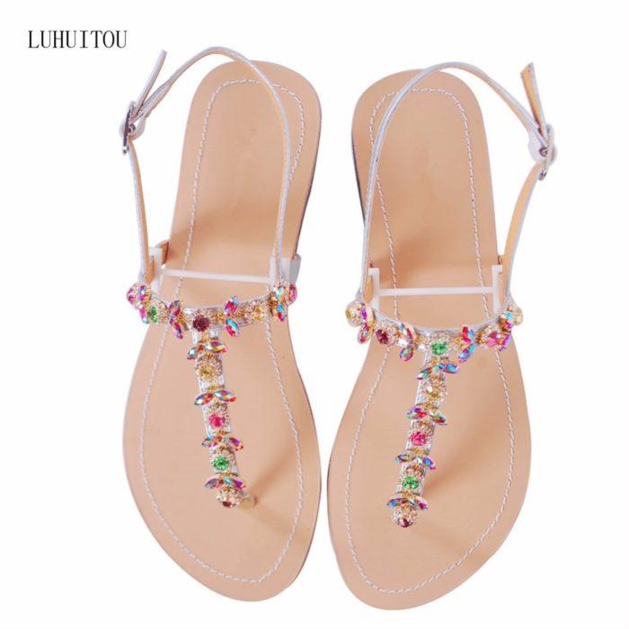 Ladies Summer Sandals with Rhinestones