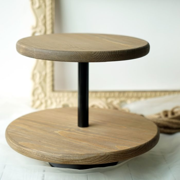 Wooden Cupcake Stand 2-Tier Stand