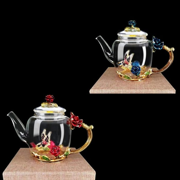 Clear Teapot Elegant Container