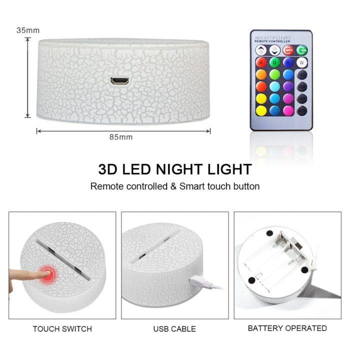 Dinosaur Night Light 3D LED Lamp