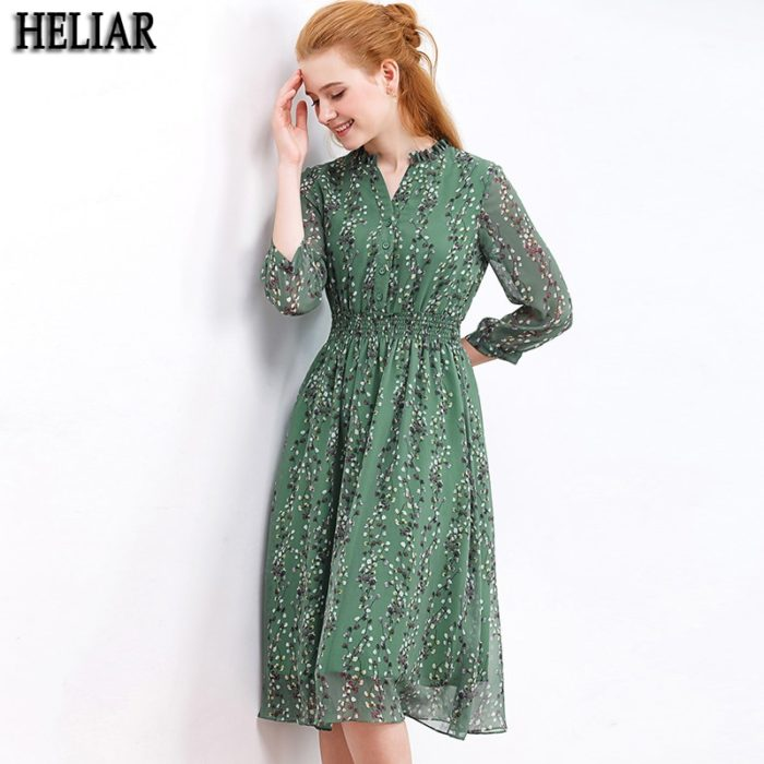Floral Chiffon Dress Casual Dress