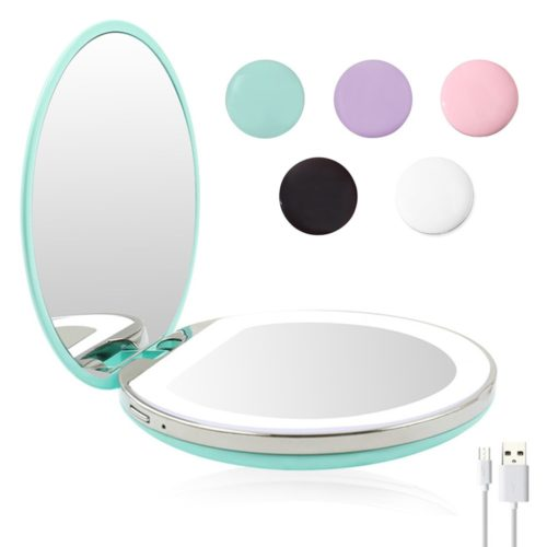 Travel Makeup Mirror with LED Light
