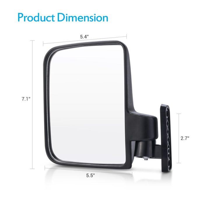 Golf Cart Mirror Foldable Mirror