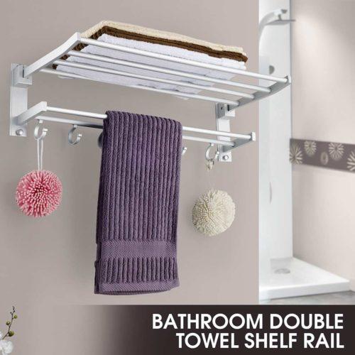 Bathroom Towel Shelf Clothes Rack