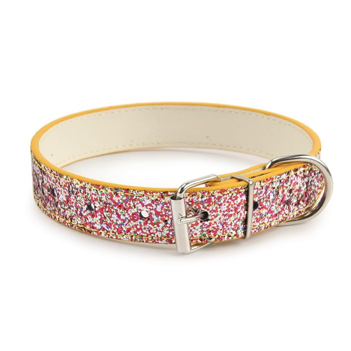 Cute Dog Collar Colorful Pattern Design