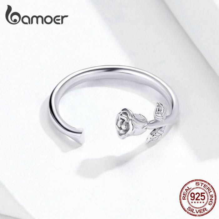 Silver Rose Ring Adjustable Size