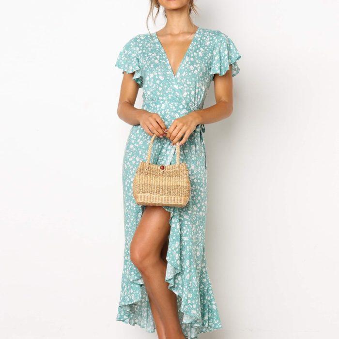 Floral Print Maxi Dress Fashionwear