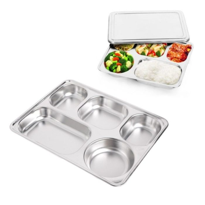 Portion Control Plate 5 Compartments