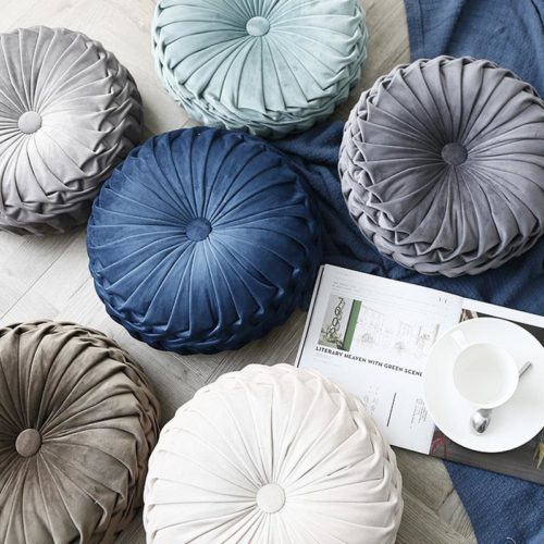 Round Throw Pillow Soft Cushion