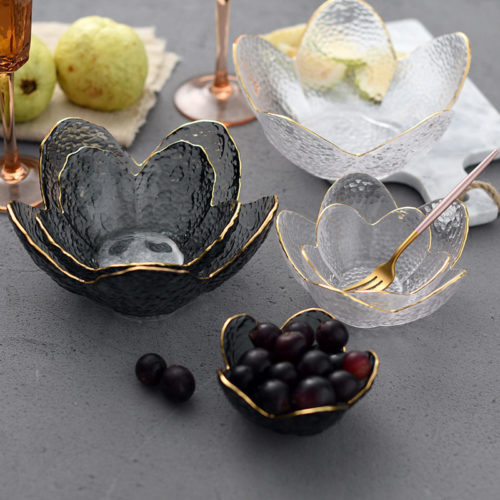 Glass Fruit Bowl Decorative Crystal Bowl