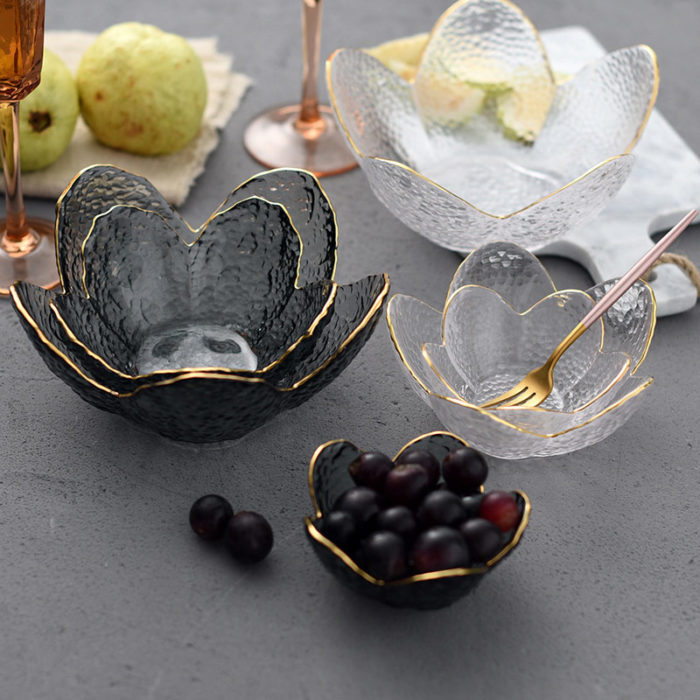 Glass Fruit Bowl Decorative Crystal Bowl