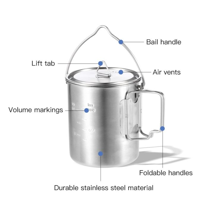 Camping Mug Stainless Steel Container